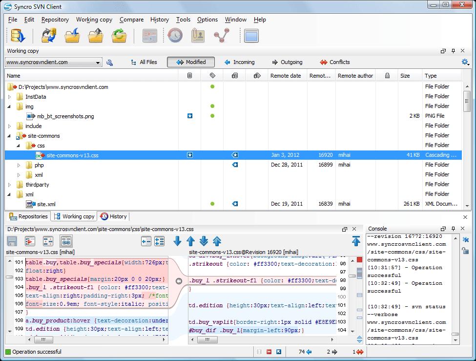 SVNClientBig - نحوه کار کردن با یک SVN آنلاین